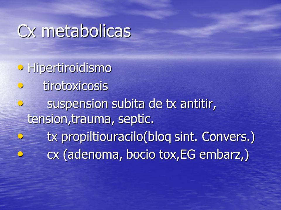 Cx metabolicas Hipertiroidismo tirotoxicosis