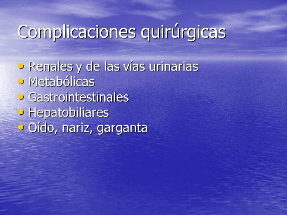 Complicaciones quirúrgicas