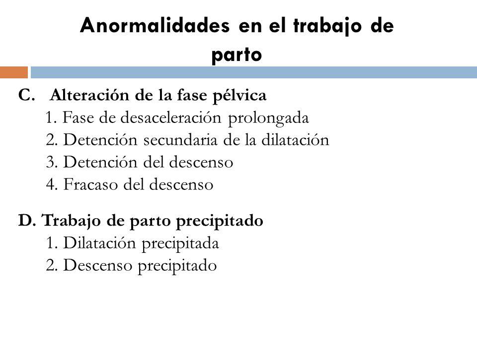 Anormalidades en el trabajo de parto