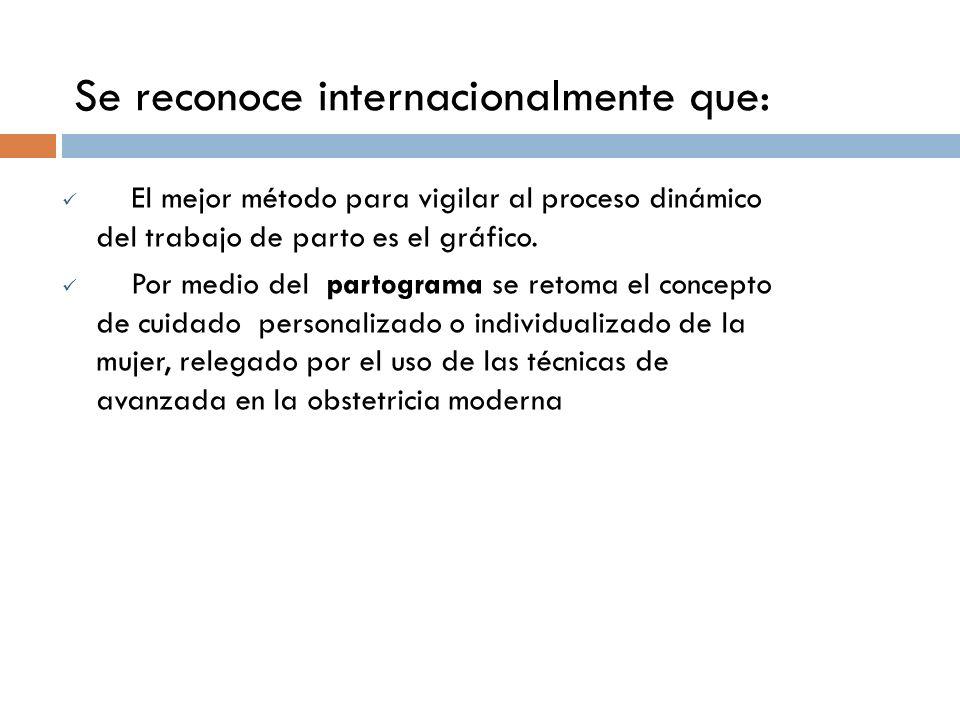 Se reconoce internacionalmente que: