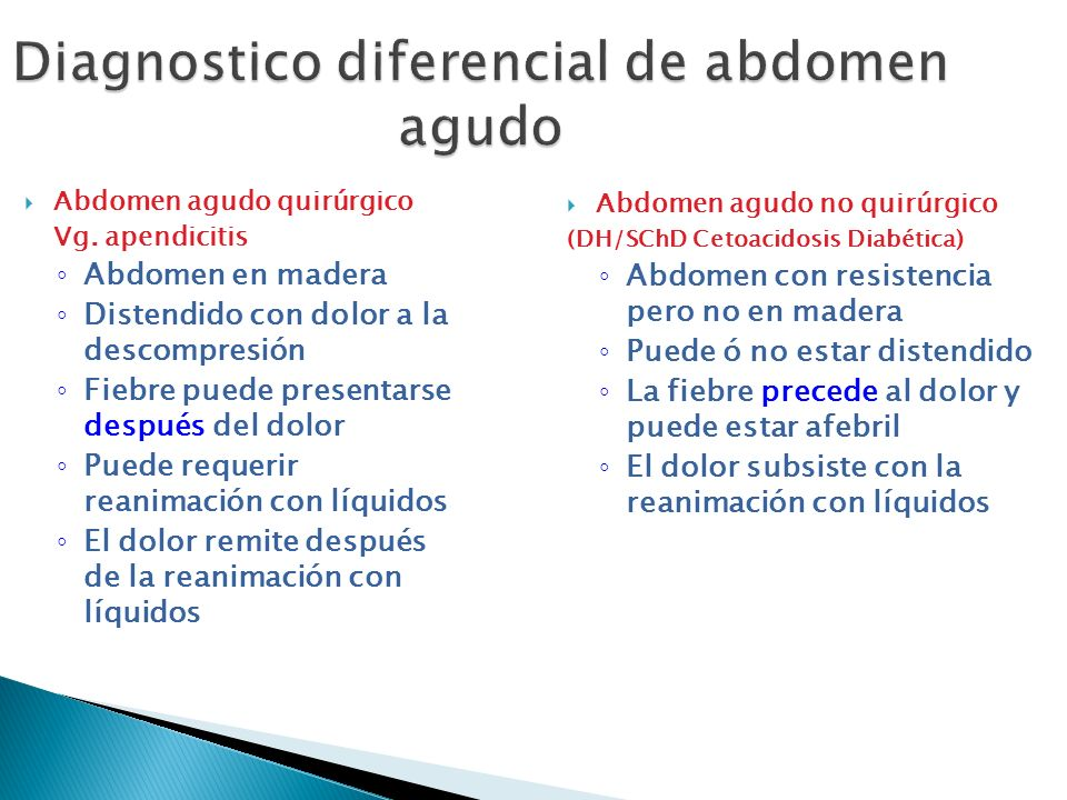 Diagnostico diferencial de abdomen agudo