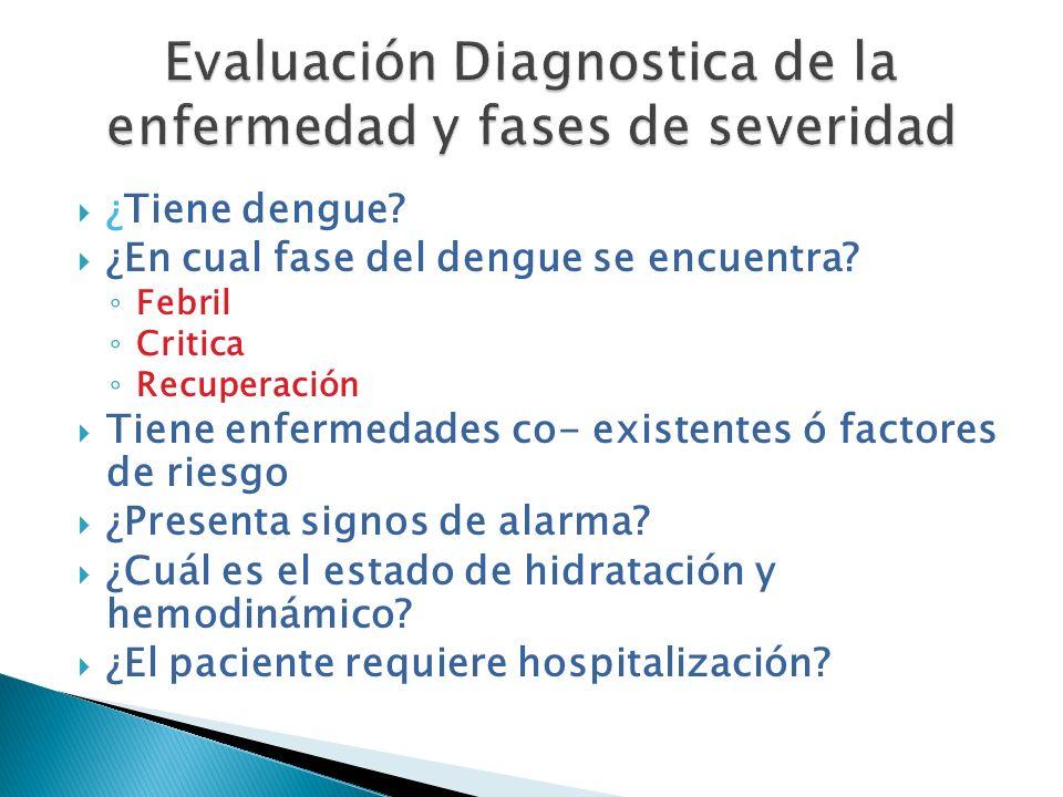 Evaluación Diagnostica de la enfermedad y fases de severidad
