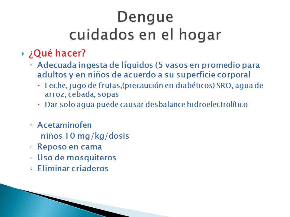 Dengue cuidados en el hogar