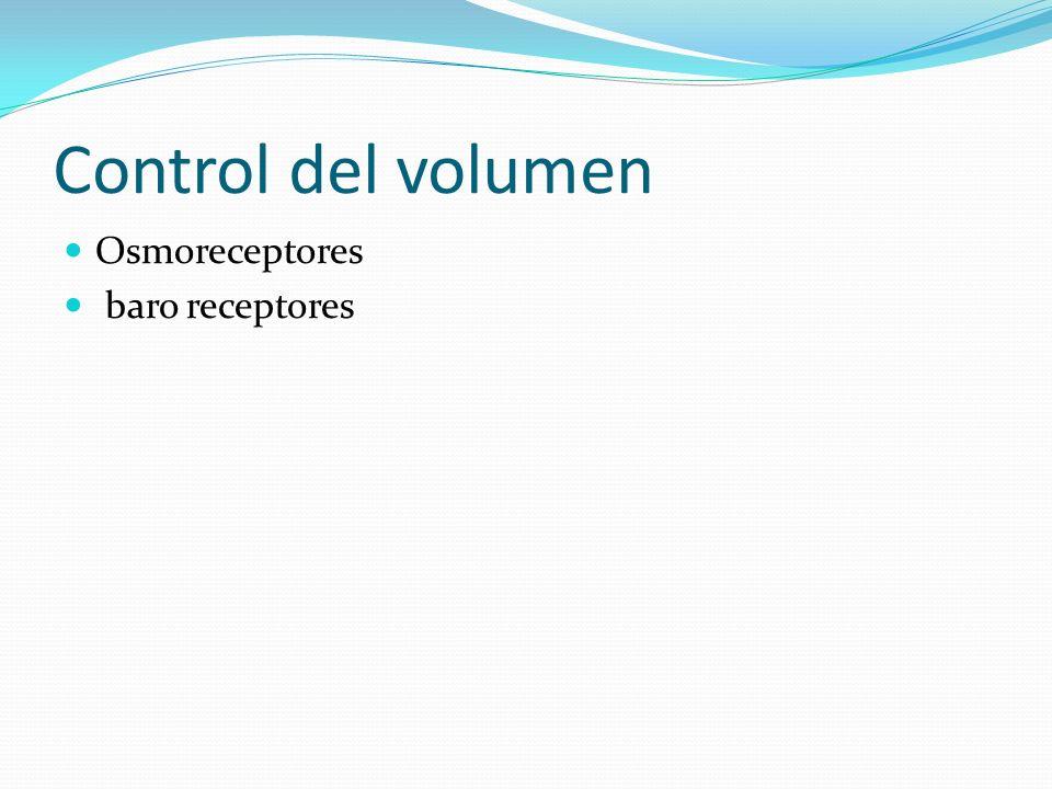 Control del volumen Osmoreceptores baro receptores