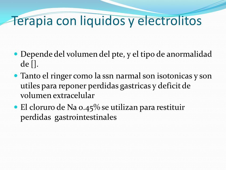 Terapia con liquidos y electrolitos