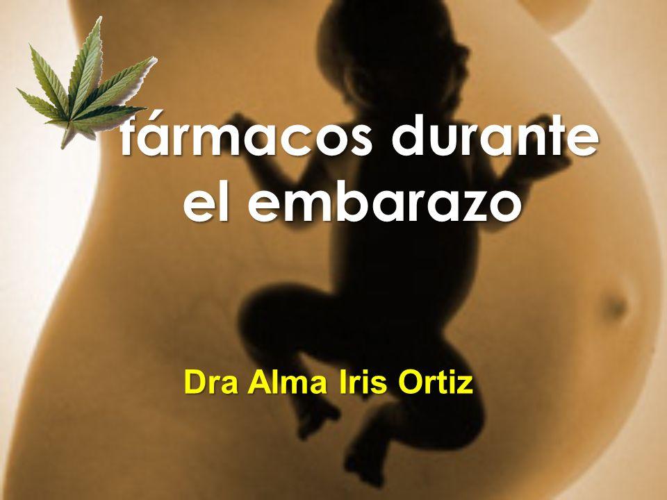 fármacos durante el embarazo