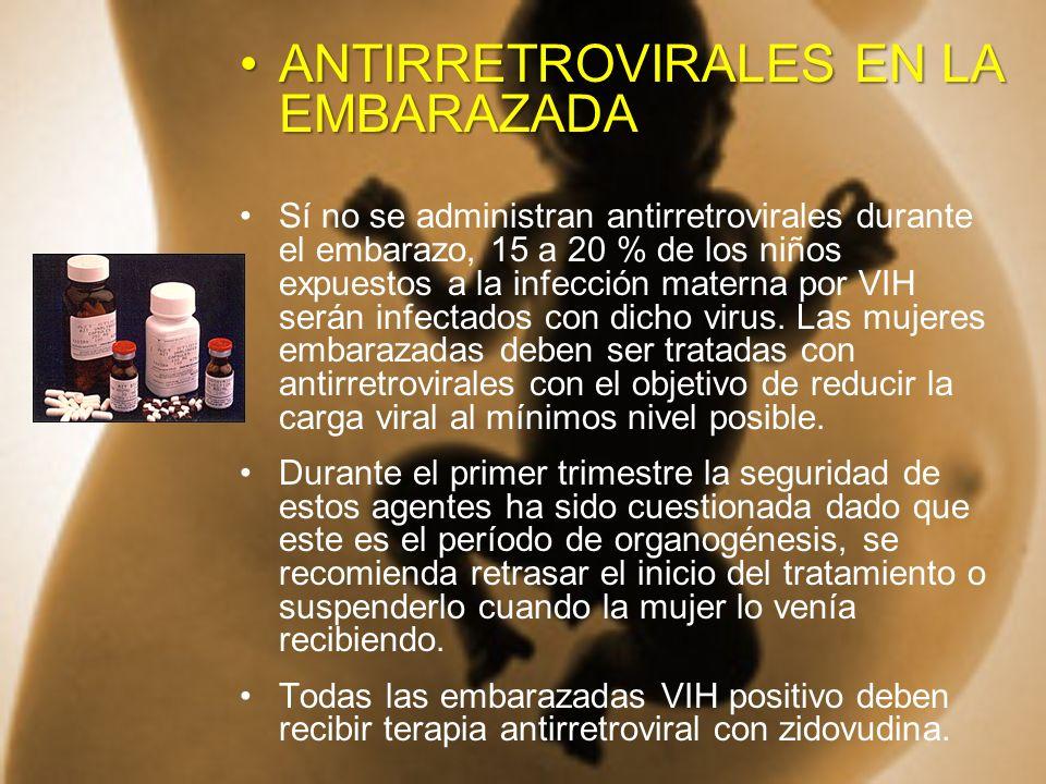 ANTIRRETROVIRALES EN LA EMBARAZADA