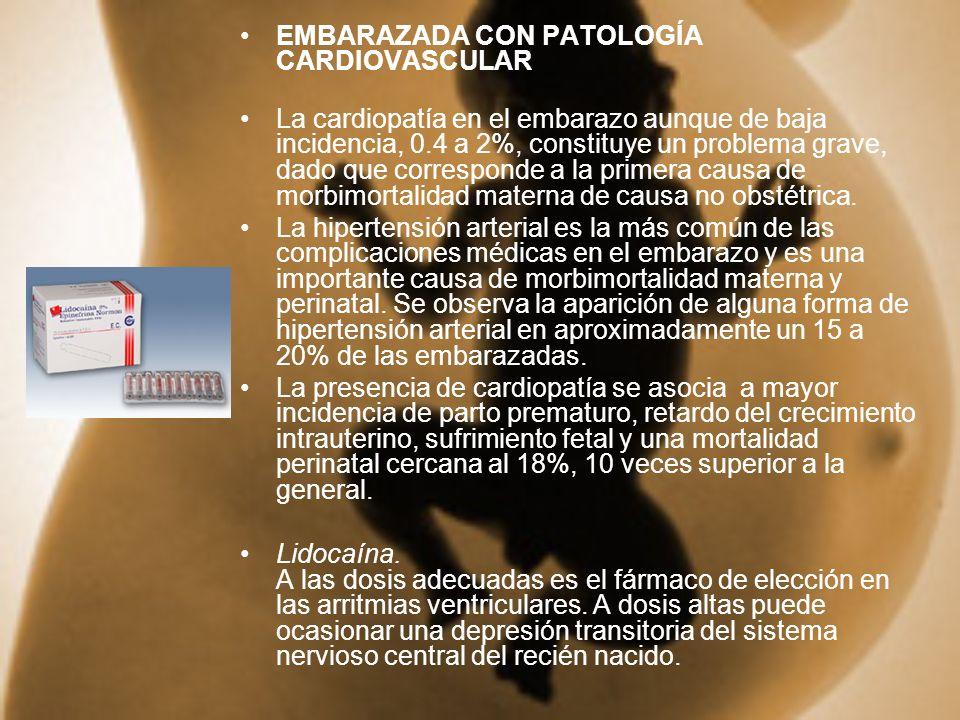 EMBARAZADA CON PATOLOGÍA CARDIOVASCULAR