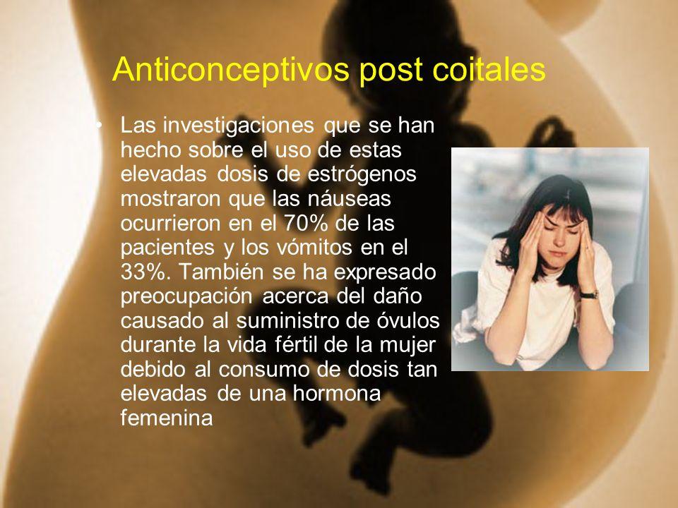 Anticonceptivos post coitales