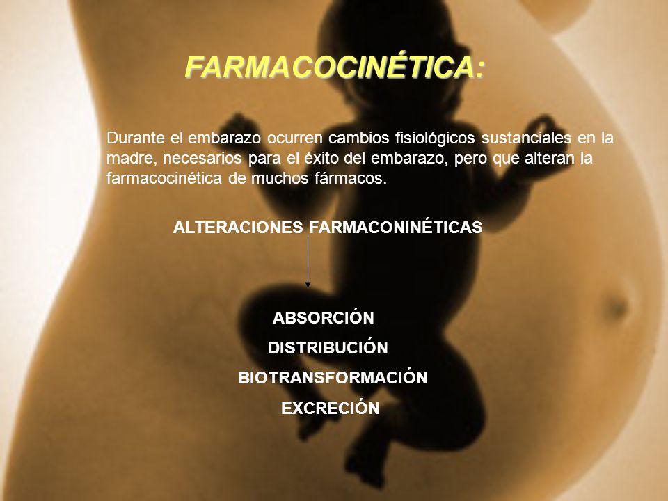 ALTERACIONES FARMACONINÉTICAS