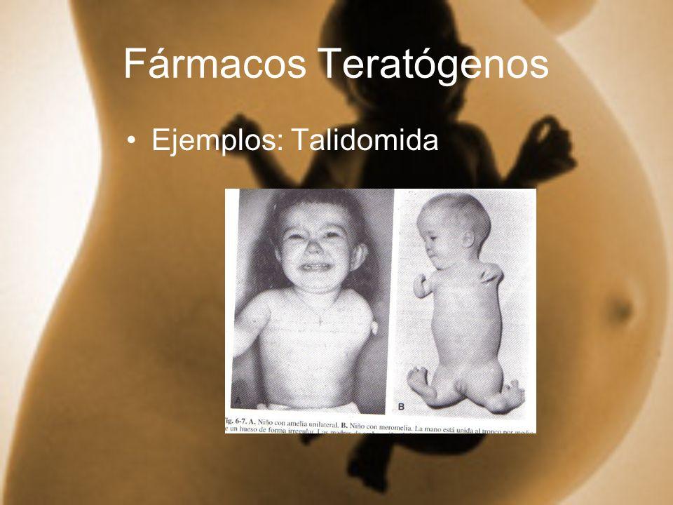 Fármacos Teratógenos Ejemplos: Talidomida