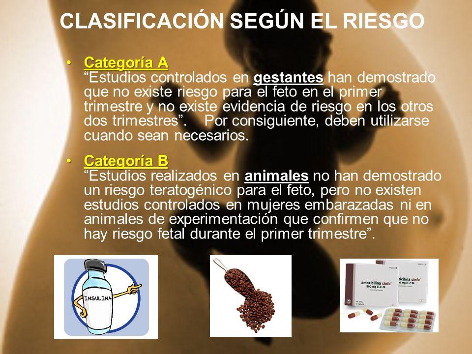 CLASIFICACIÓN SEGÚN EL RIESGO
