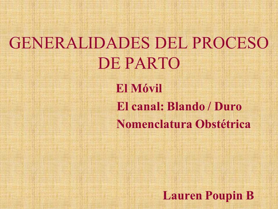 GENERALIDADES DEL PROCESO DE PARTO