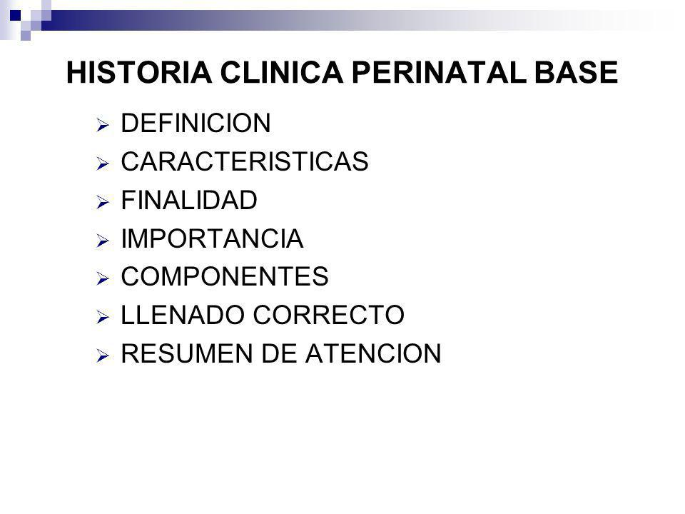 HISTORIA CLINICA PERINATAL BASE