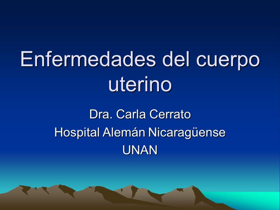 Enfermedades del cuerpo uterino