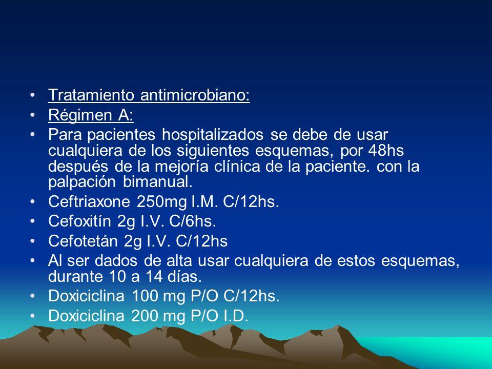 Tratamiento antimicrobiano: