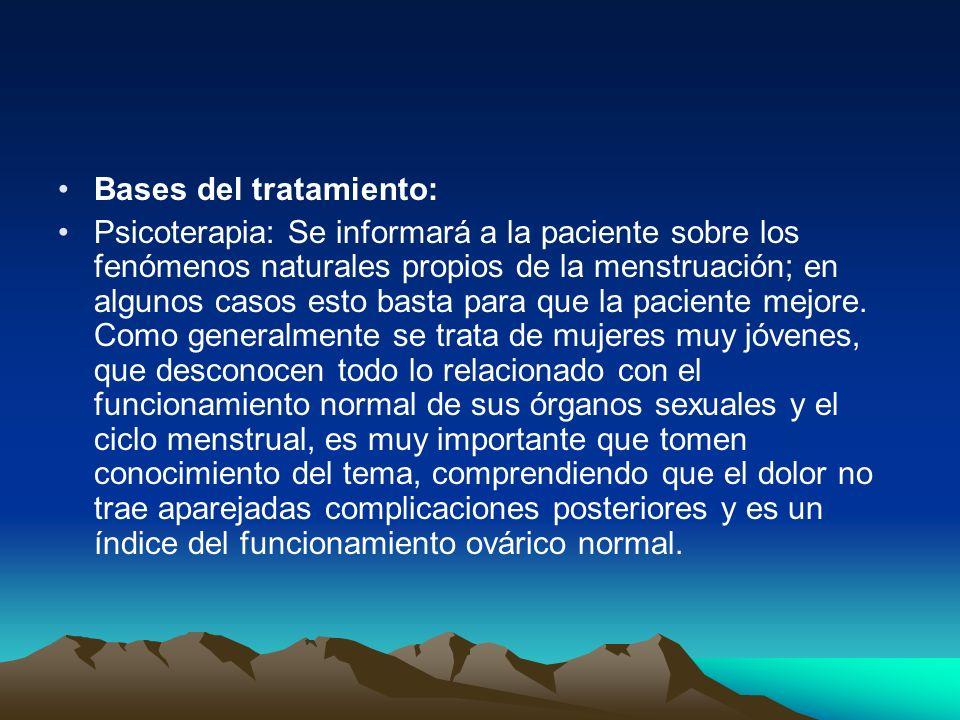 Bases del tratamiento:
