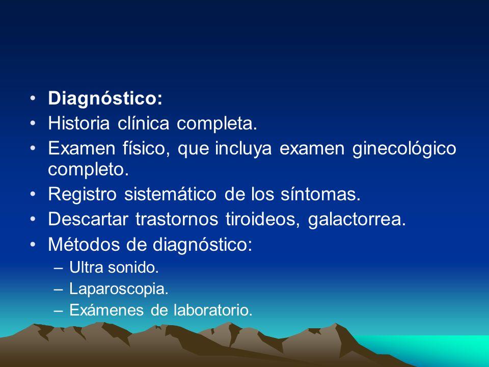 Historia clínica completa.