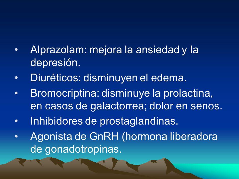Alprazolam: mejora la ansiedad y la depresión.