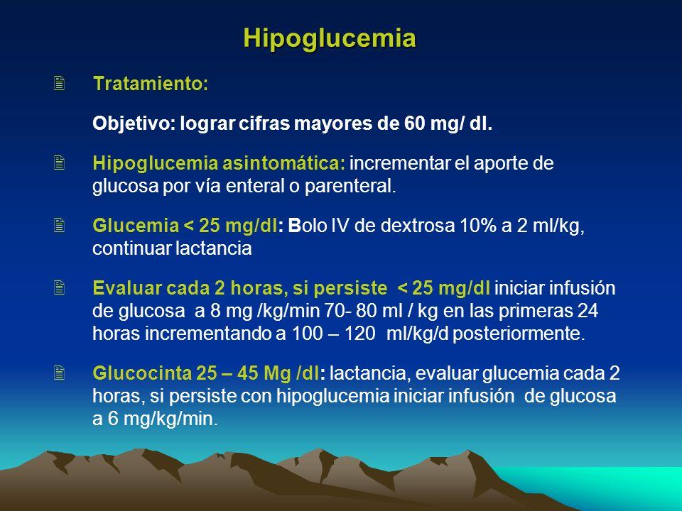 Hipoglucemia Tratamiento: