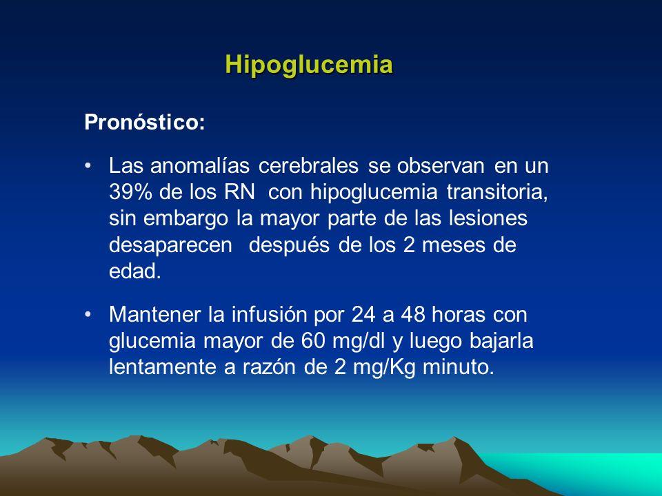 Hipoglucemia Pronóstico: