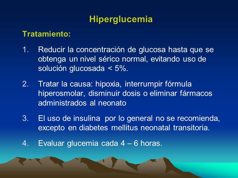 Hiperglucemia Tratamiento: