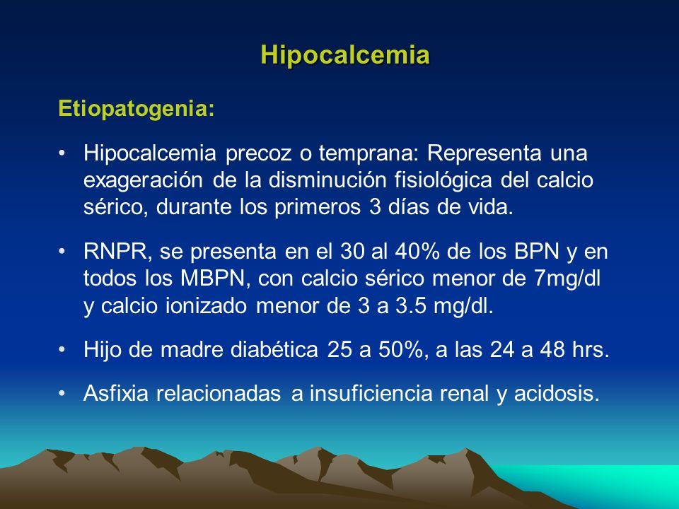 Hipocalcemia Etiopatogenia: