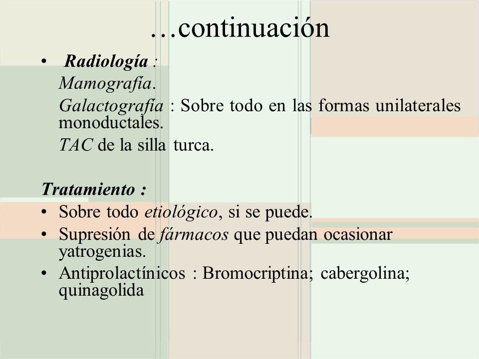 …continuación Radiología : Mamografía.