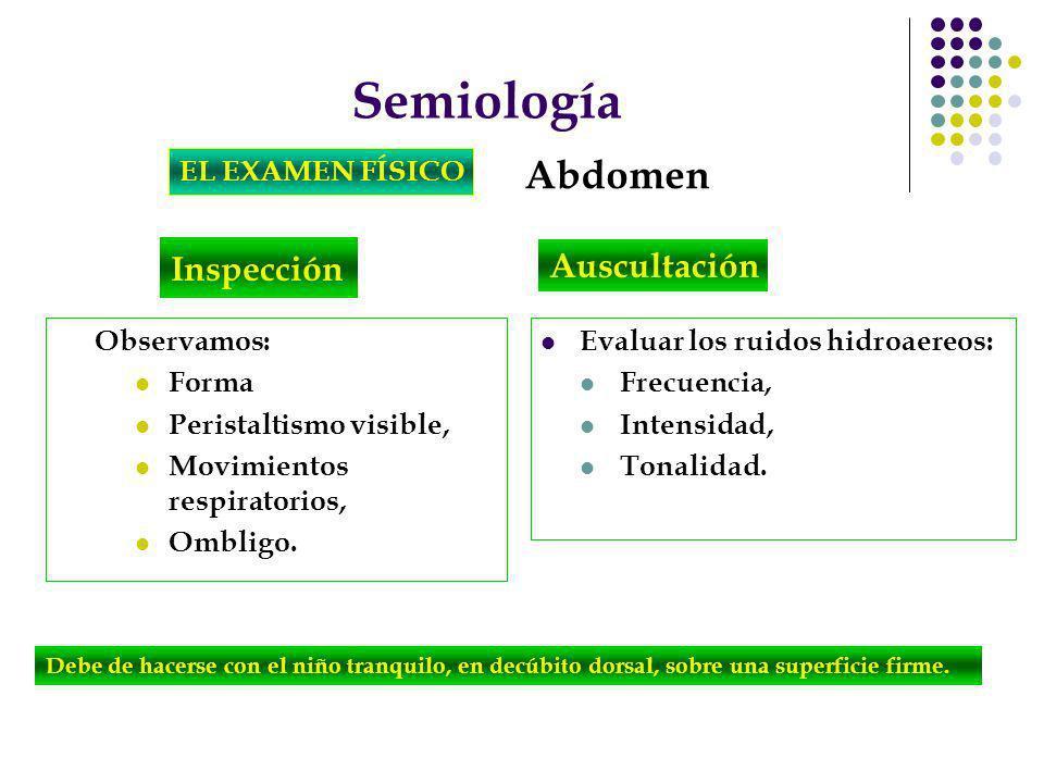 Semiología Abdomen Inspección Auscultación EL EXAMEN FÍSICO
