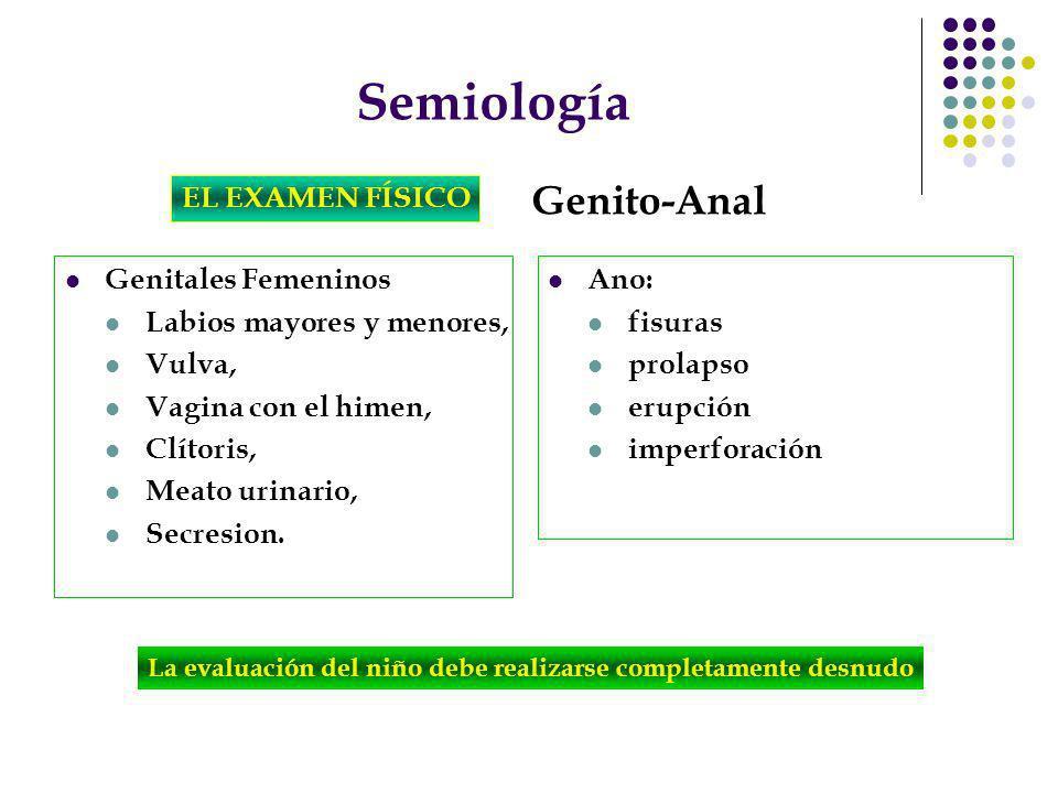 Semiología Genito-Anal EL EXAMEN FÍSICO Genitales Femeninos