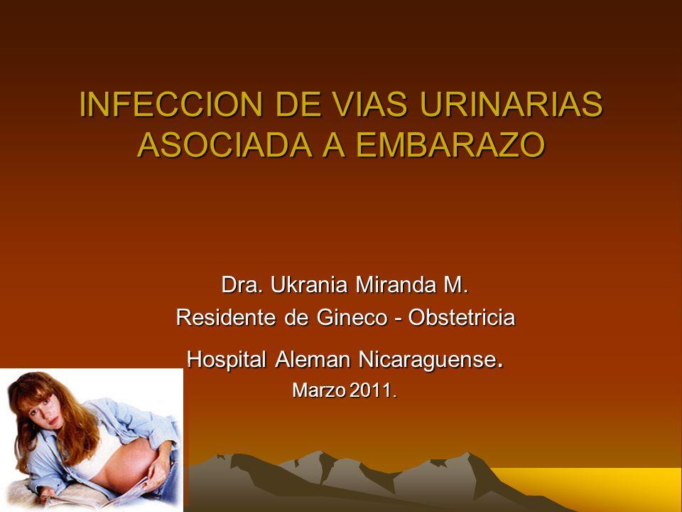 INFECCION DE VIAS URINARIAS ASOCIADA A EMBARAZO