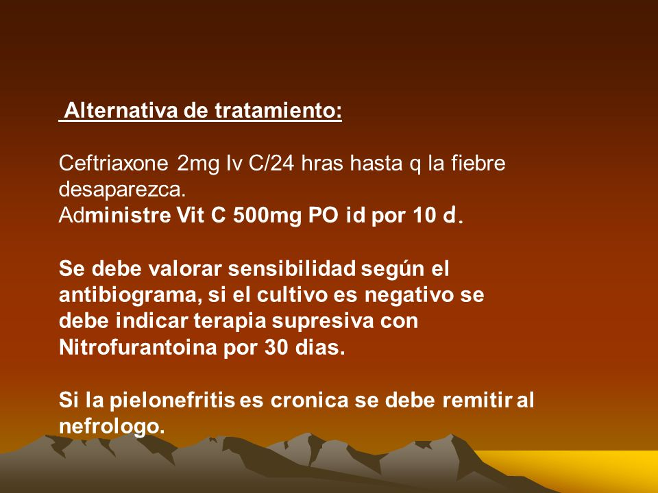 Alternativa de tratamiento: