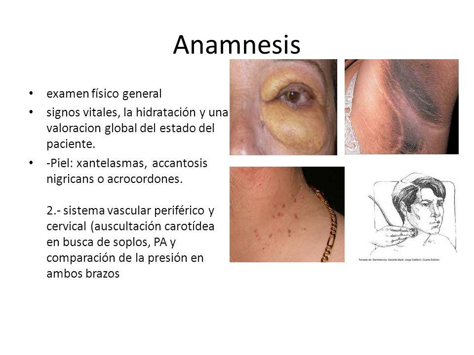 Anamnesis examen físico general