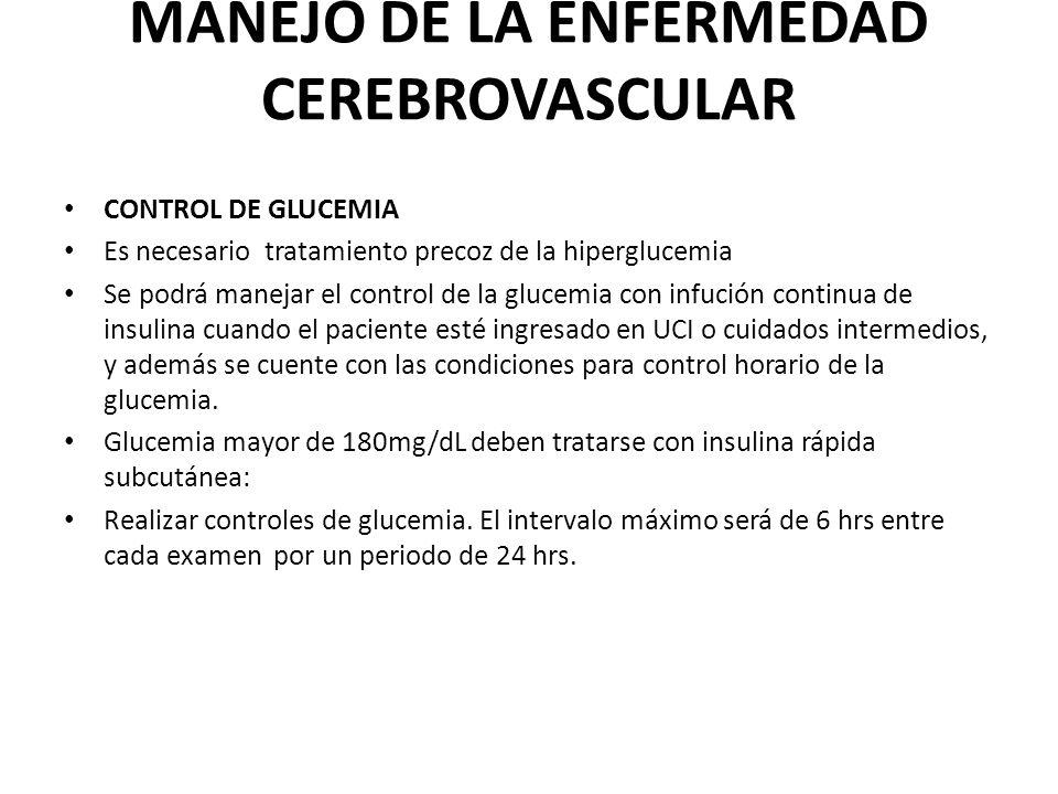 MANEJO DE LA ENFERMEDAD CEREBROVASCULAR