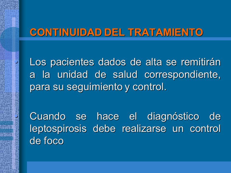 CONTINUIDAD DEL TRATAMIENTO