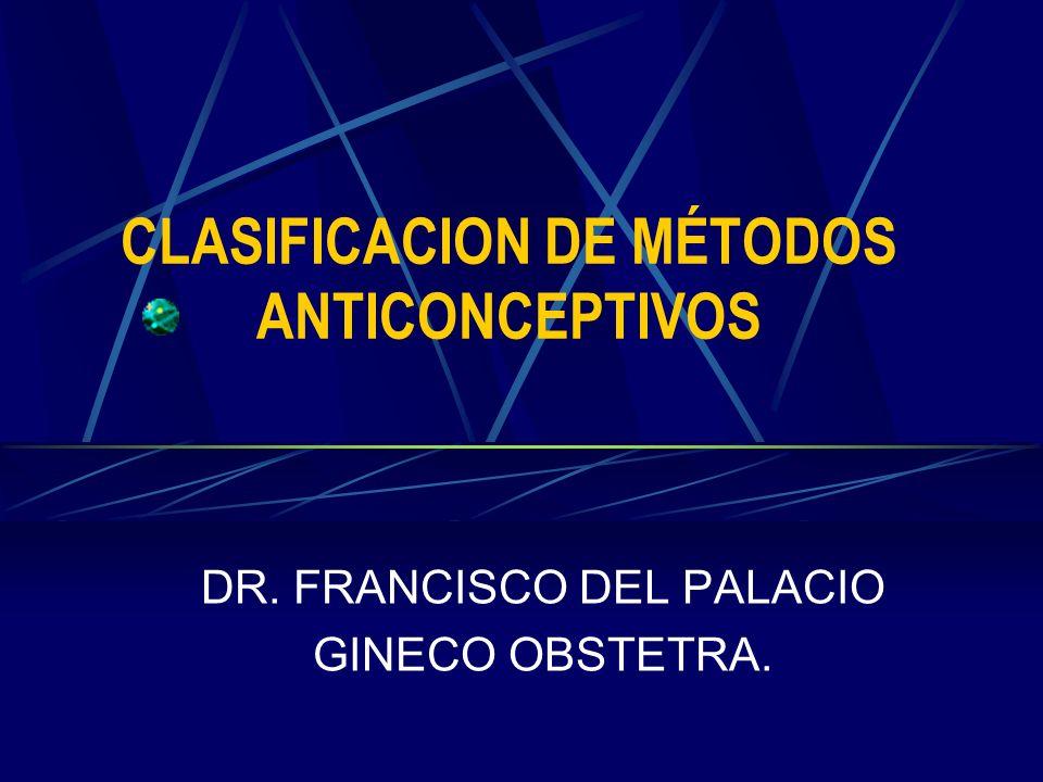 CLASIFICACION DE MÉTODOS ANTICONCEPTIVOS