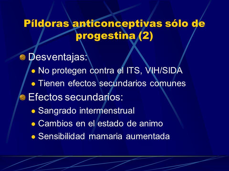 Píldoras anticonceptivas sólo de progestina (2)