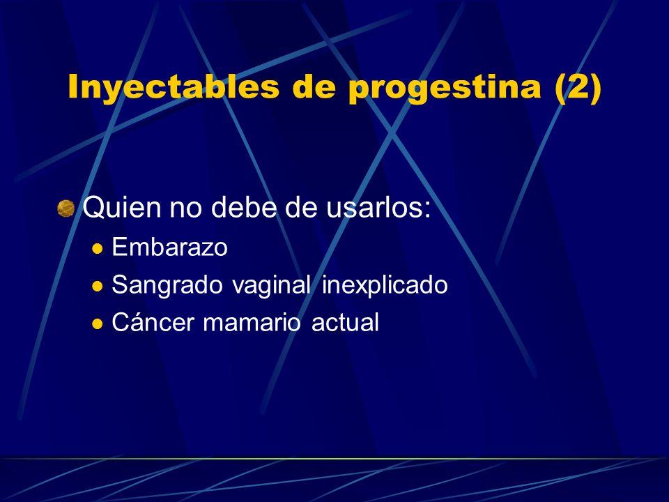 Inyectables de progestina (2)