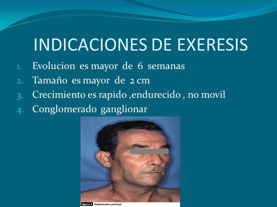 INDICACIONES DE EXERESIS