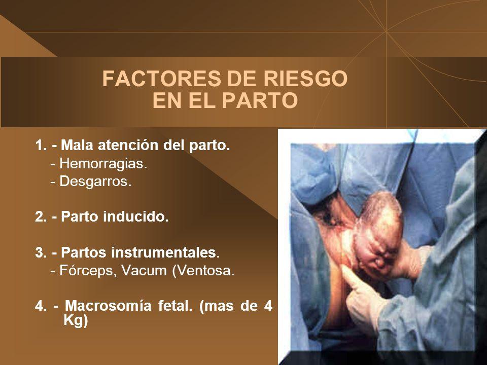 FACTORES DE RIESGO EN EL PARTO