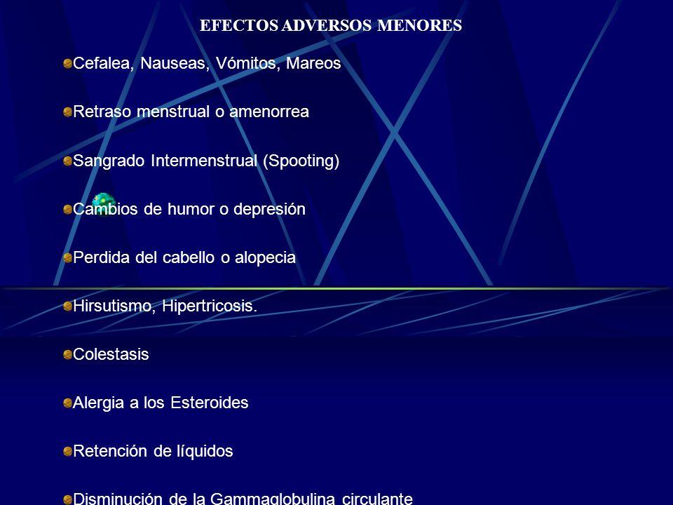EFECTOS ADVERSOS MENORES