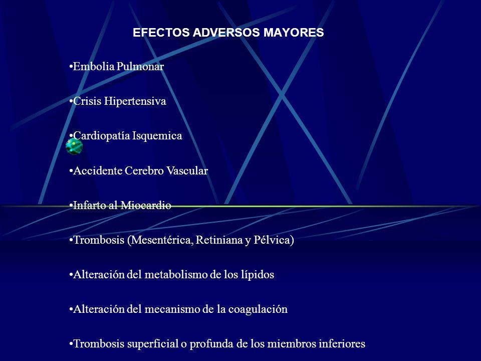 EFECTOS ADVERSOS MAYORES