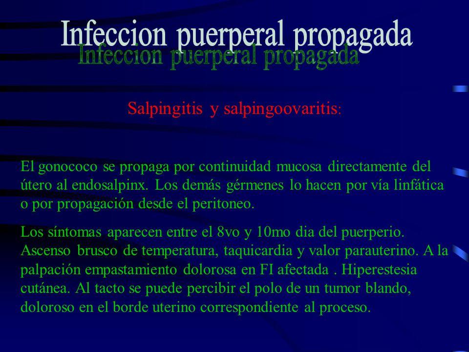 Infeccion puerperal propagada