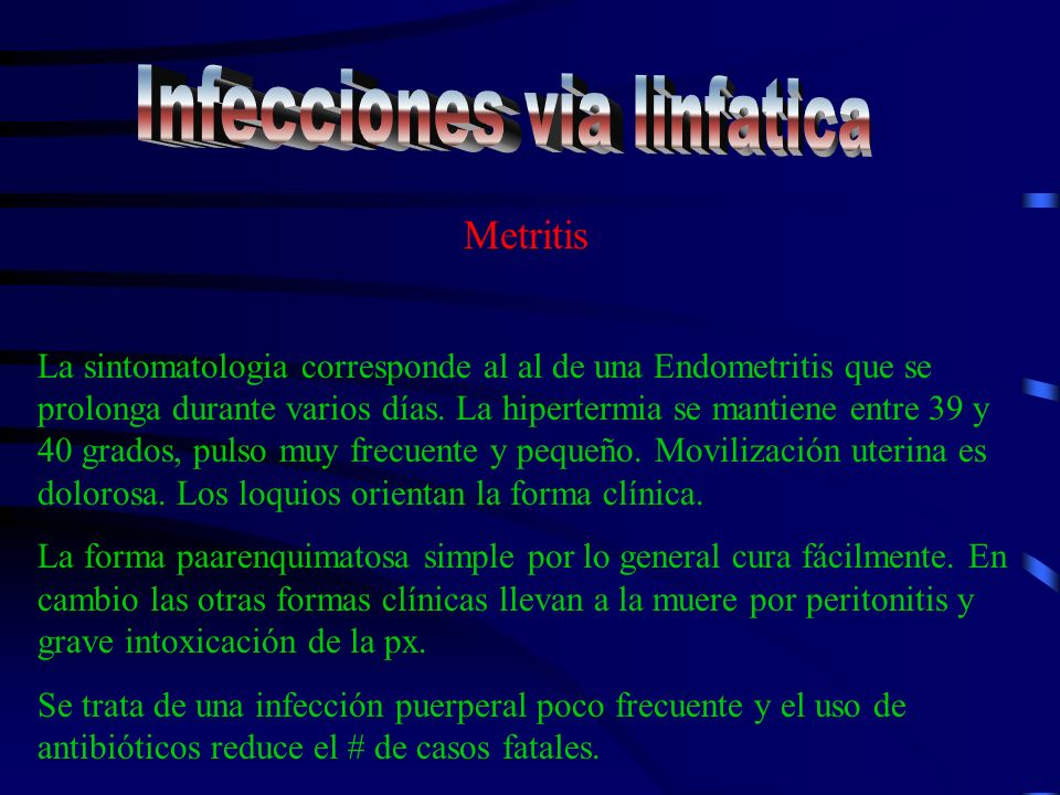 Infecciones via linfatica
