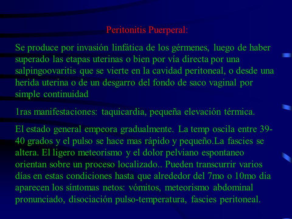 Peritonitis Puerperal: