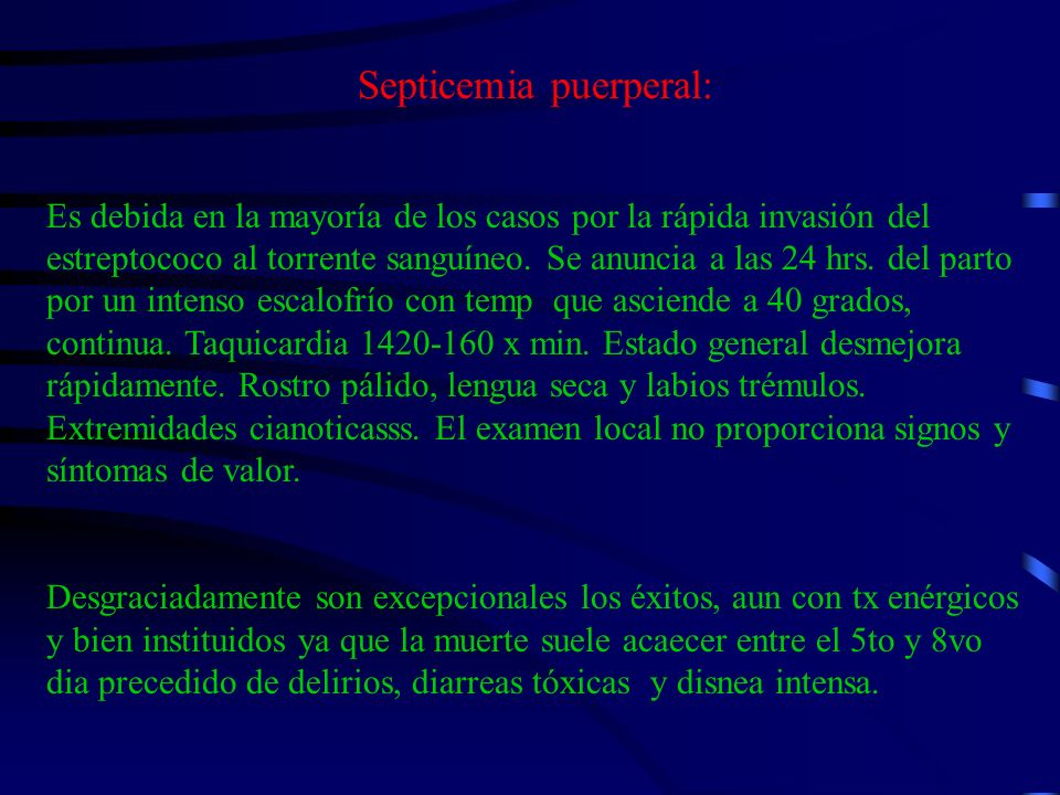 Septicemia puerperal: