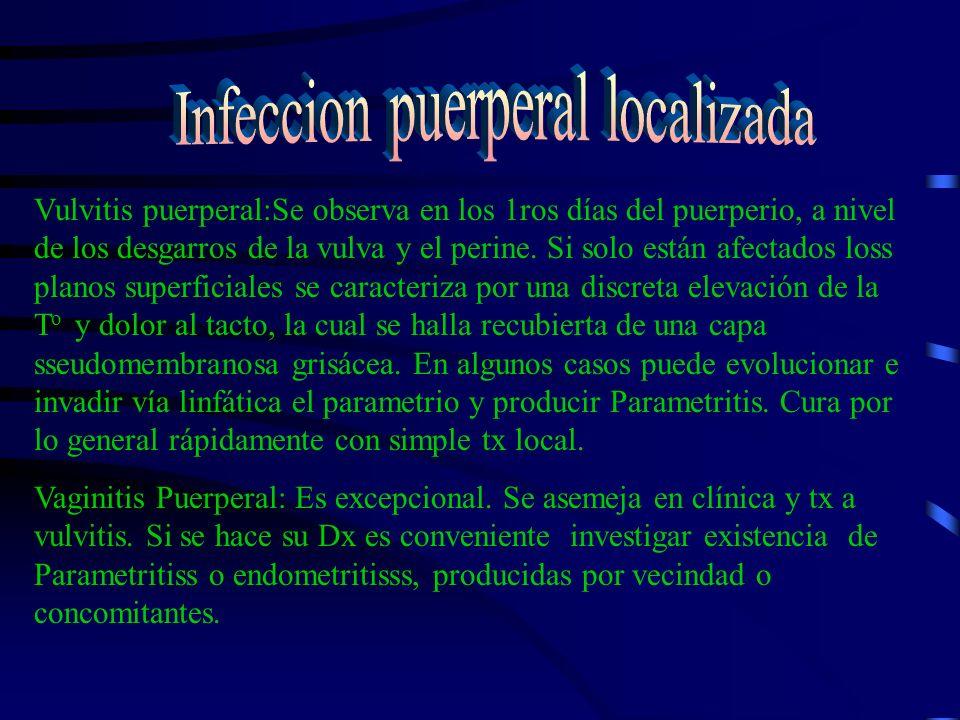 Infeccion puerperal localizada