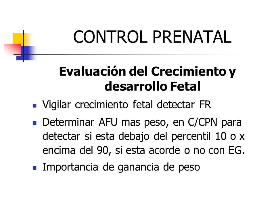 Evaluación del Crecimiento y desarrollo Fetal