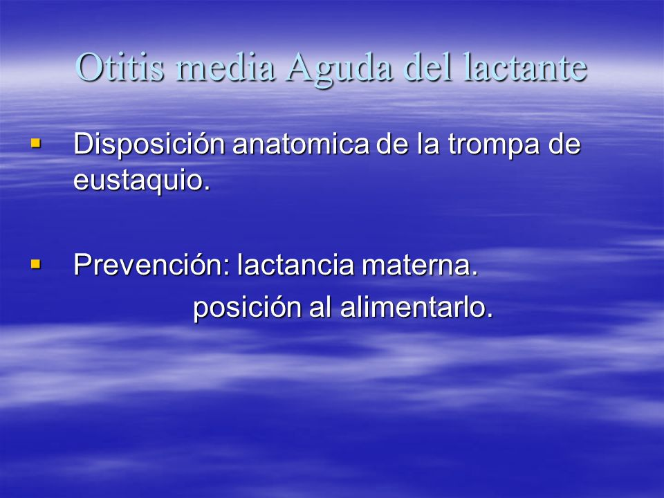 Otitis media Aguda del lactante