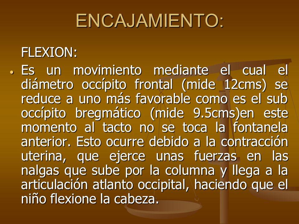 ENCAJAMIENTO: FLEXION: